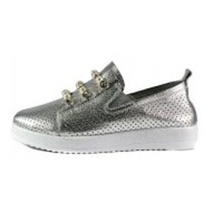 Кеды женские Allshoes 87565 серебряные