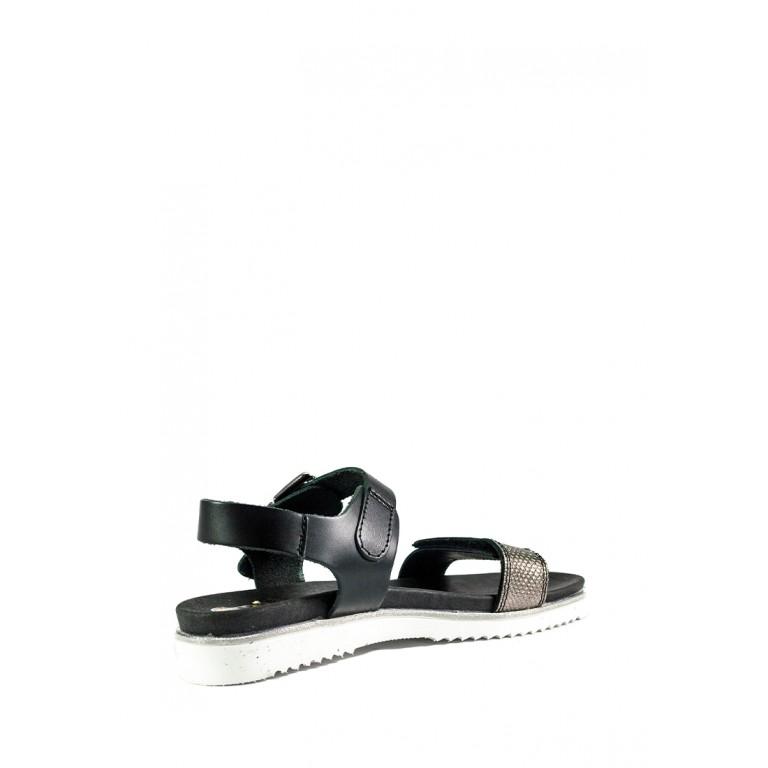 Босоножки женские MIDA 23840-179 черно-серебряный