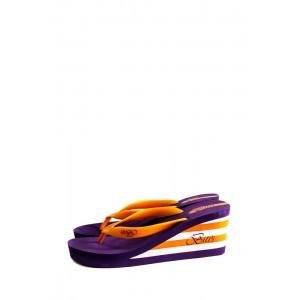 Сабо женские Bitis 8906-H оранжево-фиолетовые