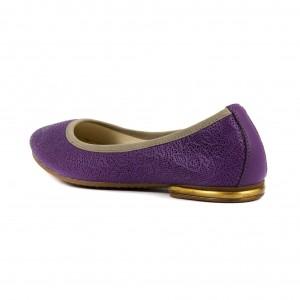 Балетки женские MIDA 21448-305 фиолетовая кожа