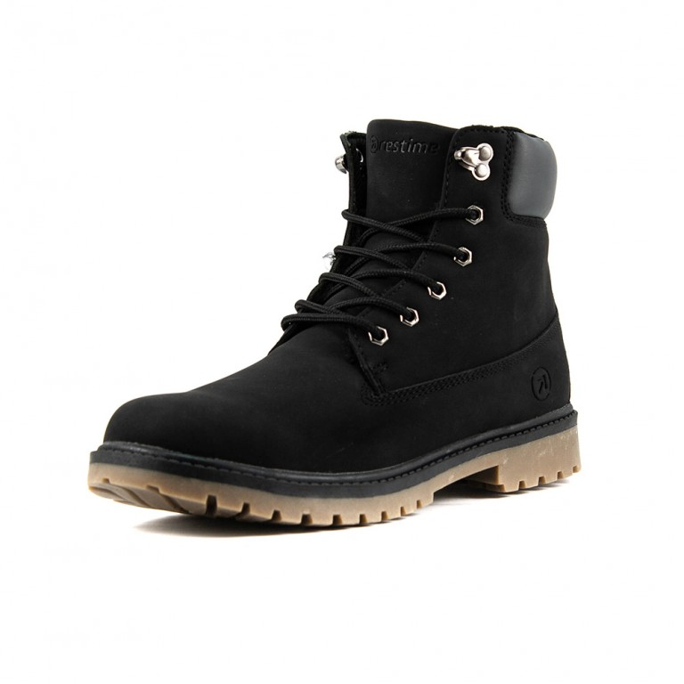 Ботинки зимние мужские Restime KMZ18104 черные