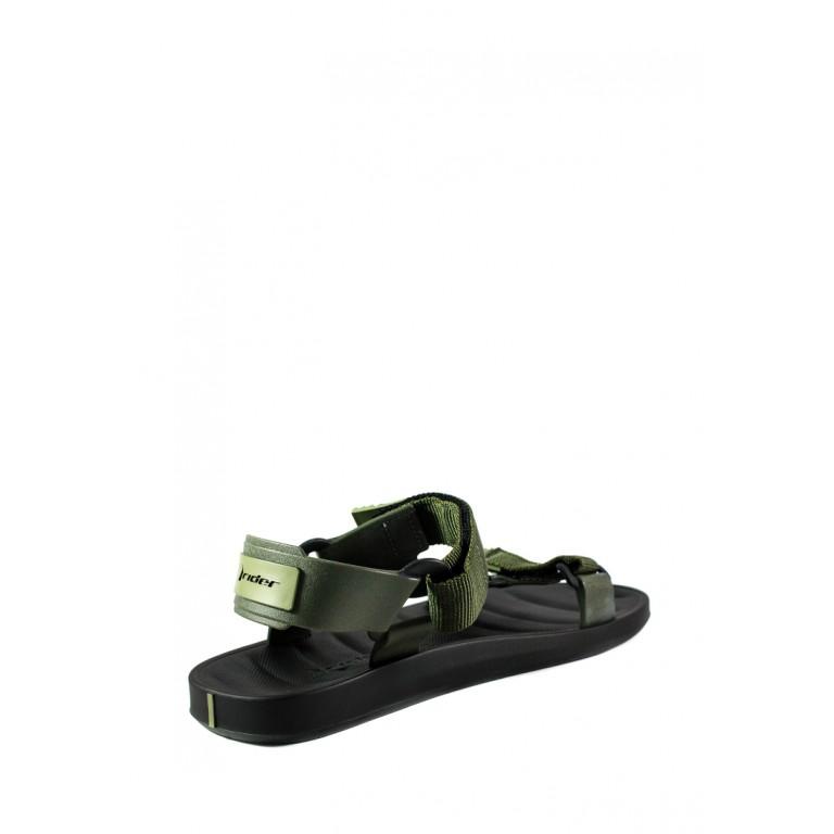 Босоножки мужские Rider 11567-20754 черно-зеленые
