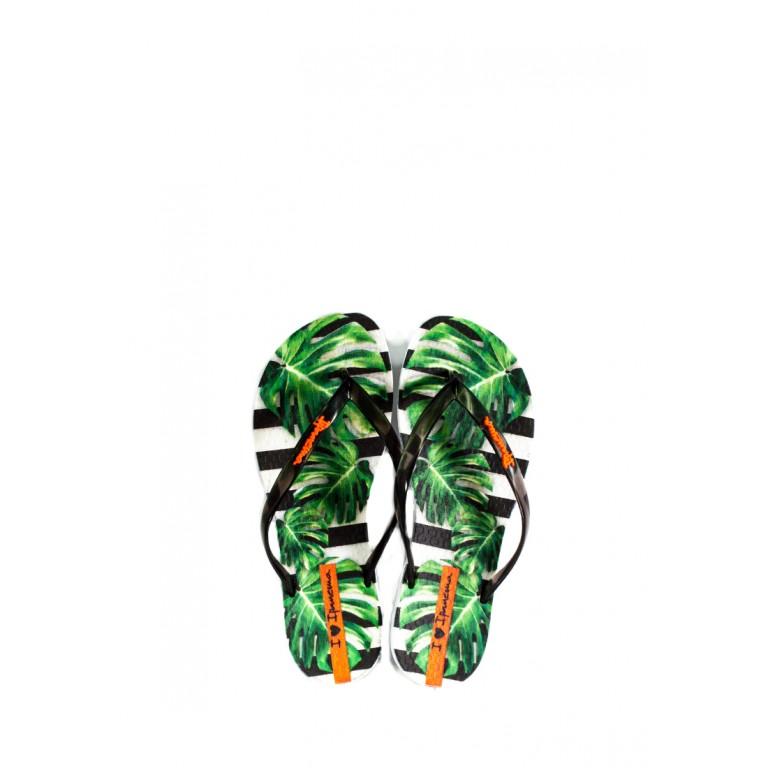 Вьетнамки женские Ipanema 26426-21364 черно-зеленые