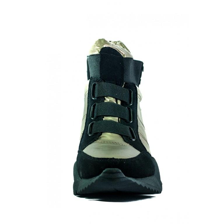 Ботинки зимние женские Prima D'arte СФ 1552-F28-3 бронзовые