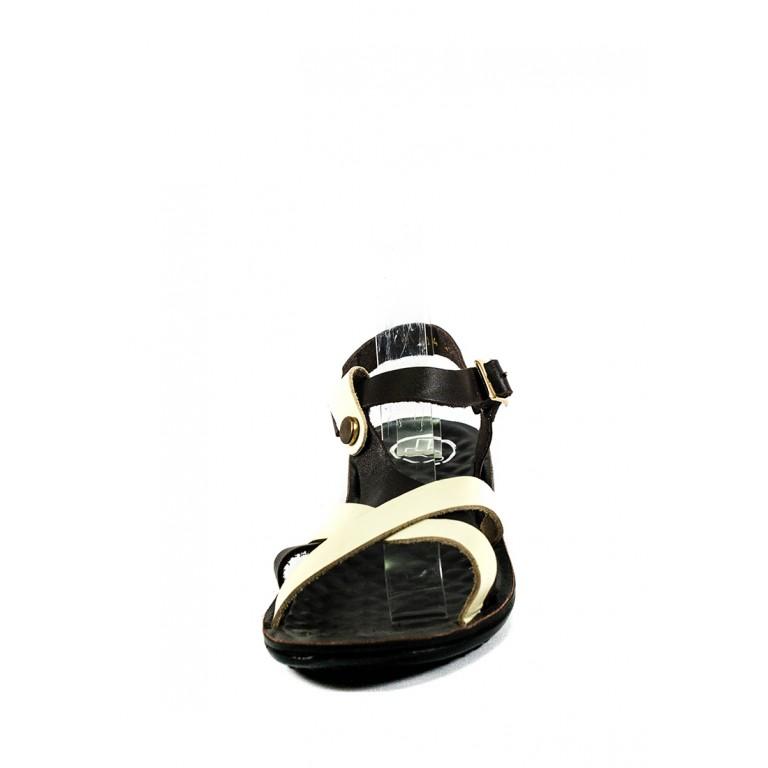 Босоножки женские TiBet 414-03-03 кремово-коричневые