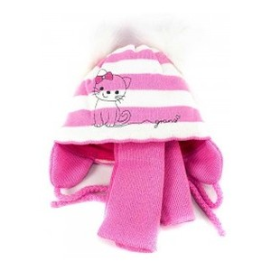 A585ST розовая шапка-шарф 40-42