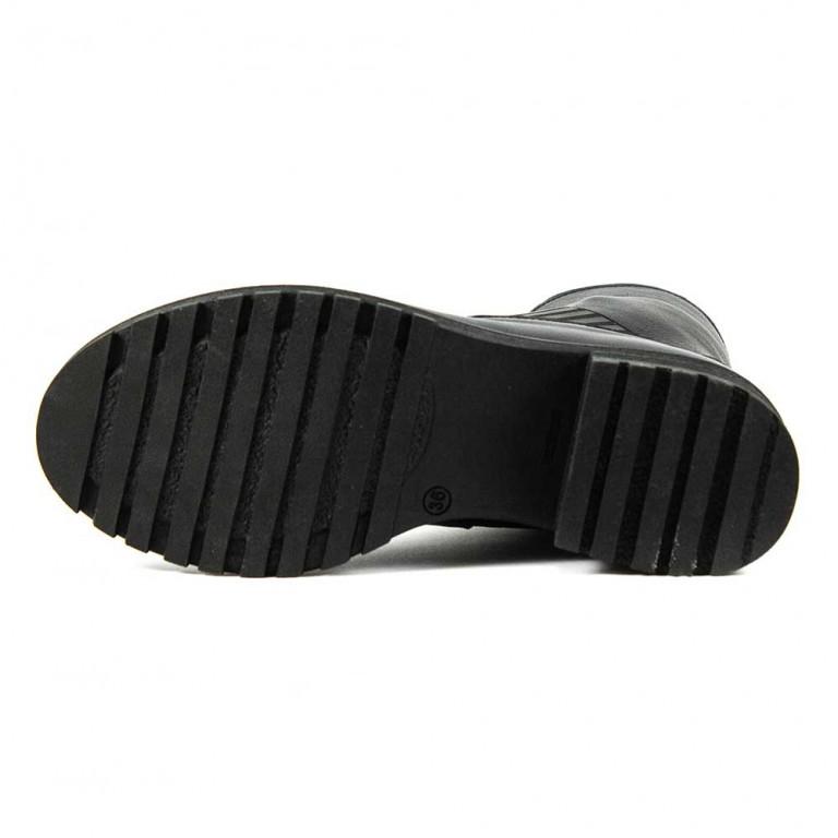 Ботинки демисезон женские CRISMA CR2904 черная кожа