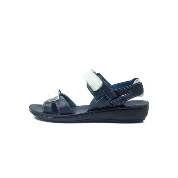 Сандалии женские TiBet 495-02-08-03 бело-синие