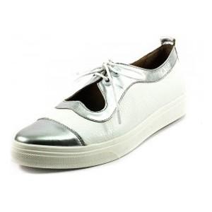 Туфли женские Tutto Shoes T3342 серебрянно-белая кожа