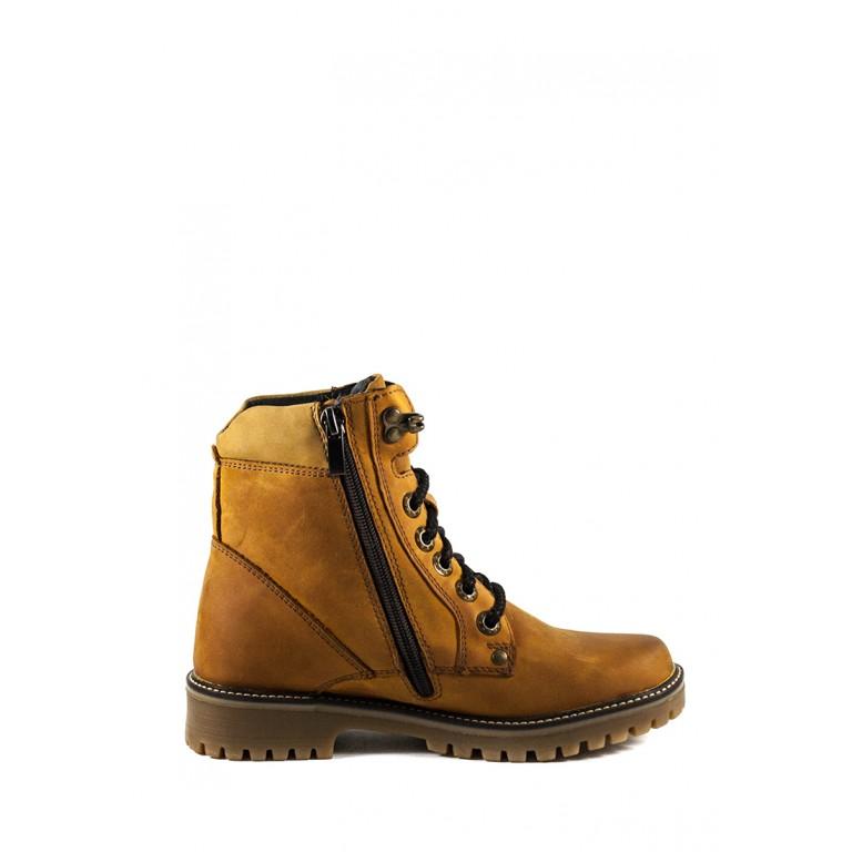 Ботинки зимние подросток MIDA 3495-5Ш рыжие