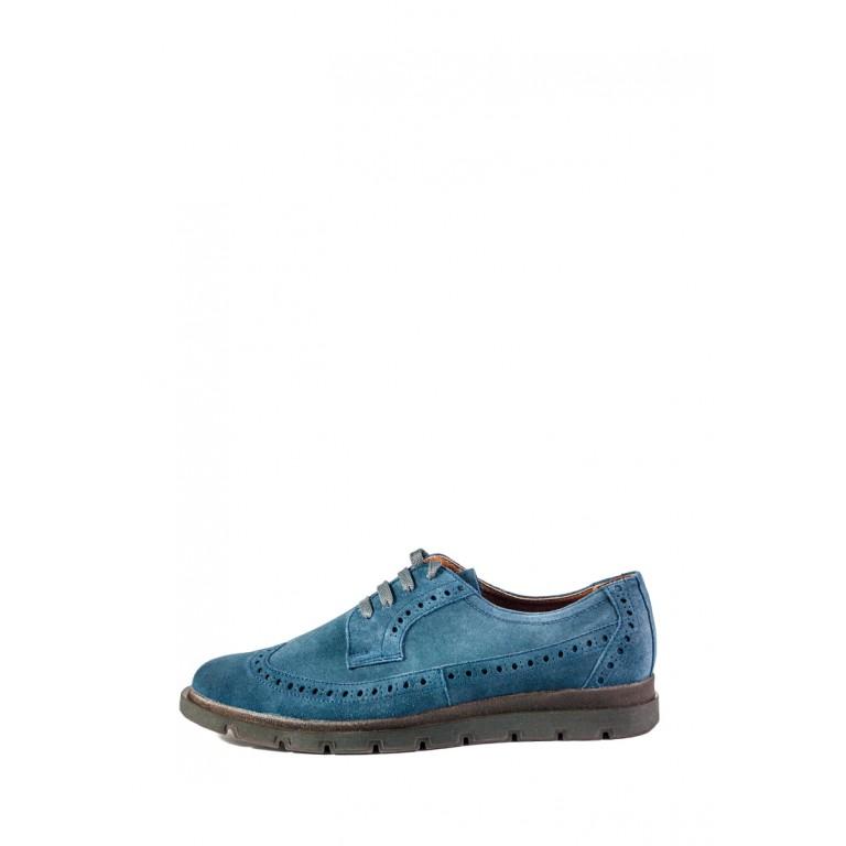 Туфли мужские MIDA 110534-490 синяя замша