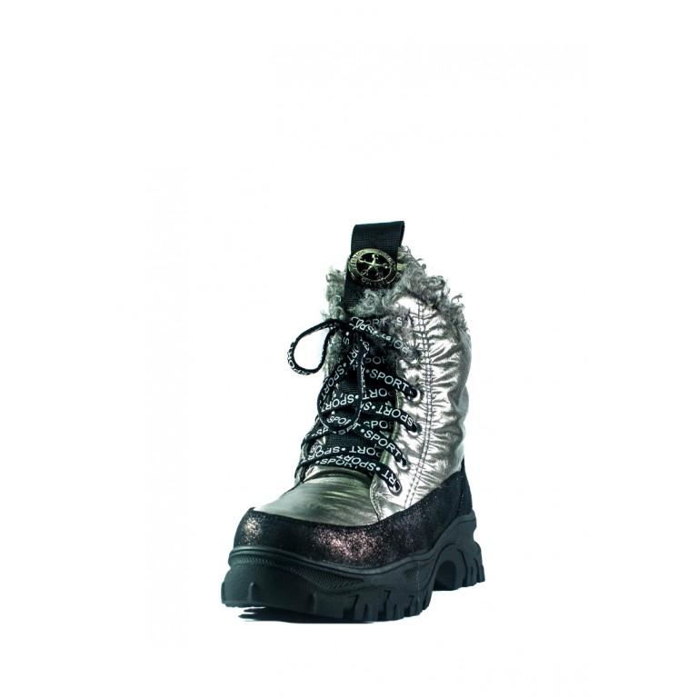Ботинки зимние женские Lonza СФ 3951-Z939 серебряные