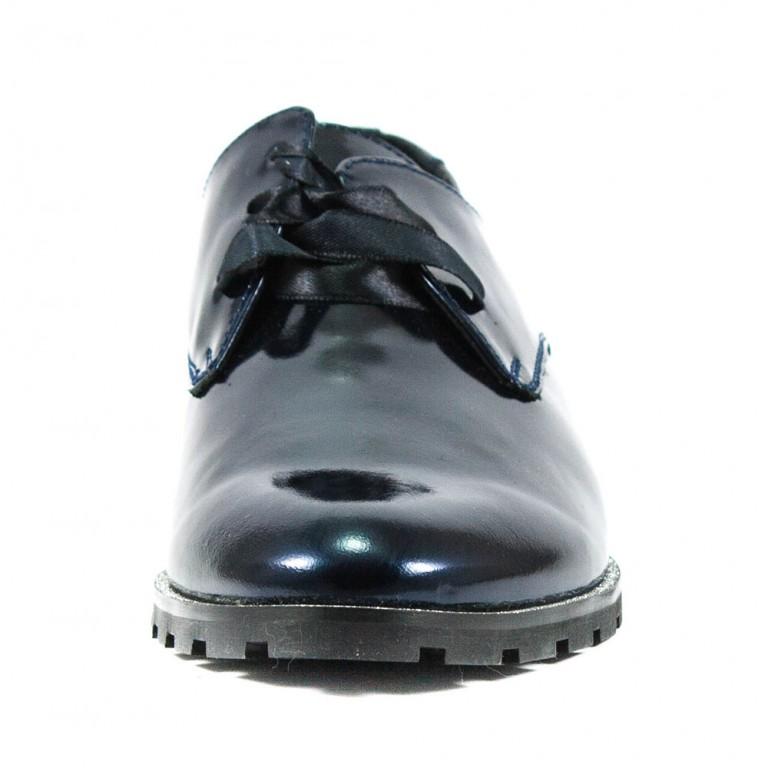 Туфли женские MIDA 21796-234 темно-синие