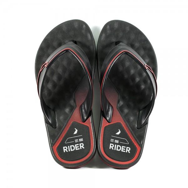Шлепанцы мужские Rider 11315-20542 черно-красные