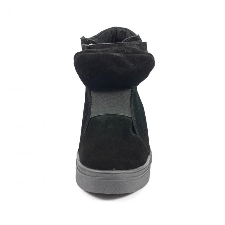 Ботинки демисез женск Julaneli Б-809 черная замша