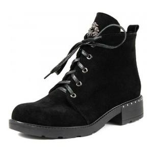 Ботинки демисезон женские SND SDAZ-J6 черная замша