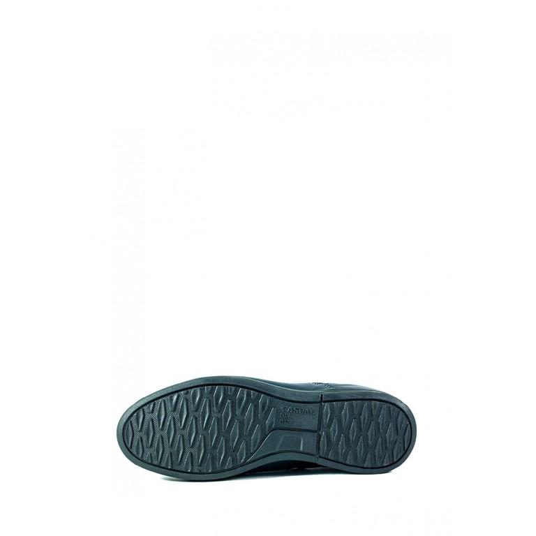 Мокасины мужские Maxus МК пр темно-синяя кожа