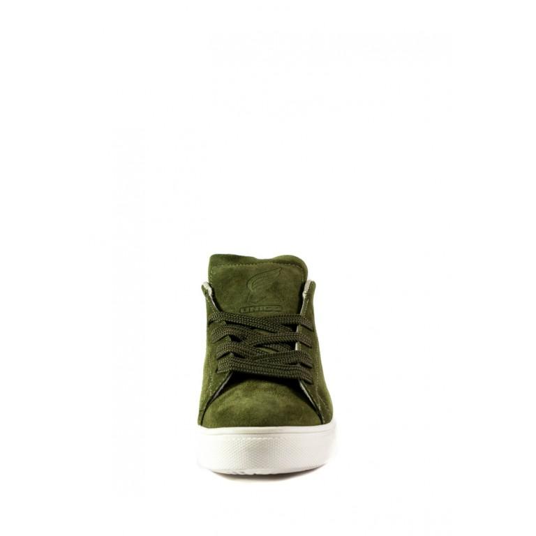 Кеды женские Unico UN09-1 зеленые