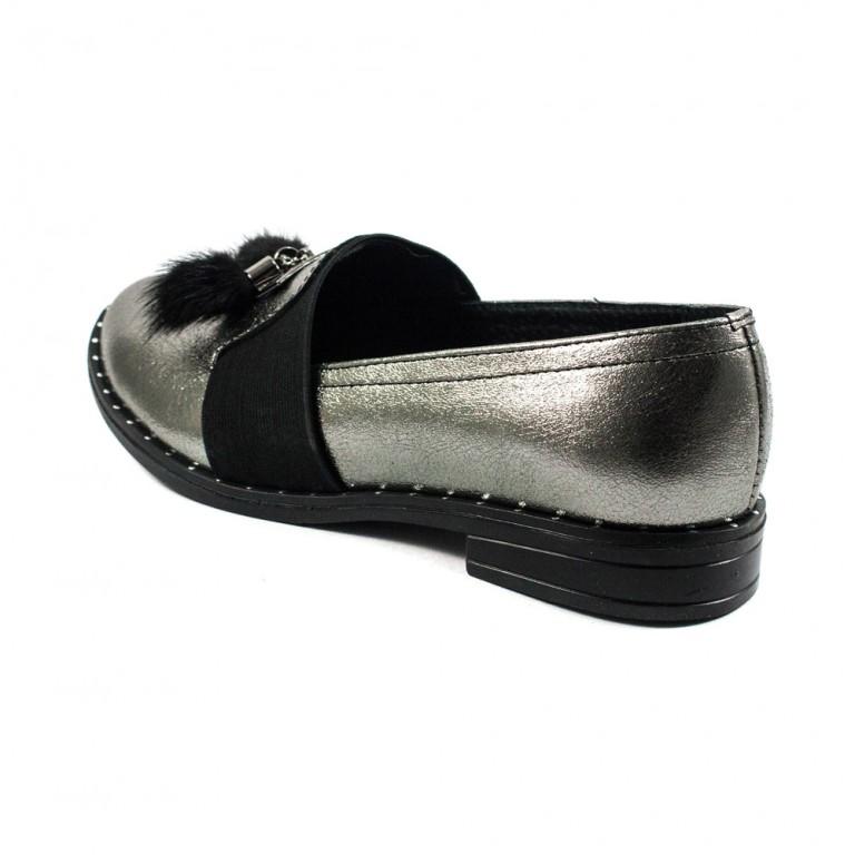 Туфли женские AmeLi AL105 серебрянная кожа