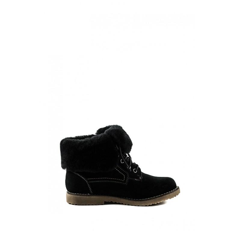 Ботинки зимние женские Lonza 3066-1A черная замша