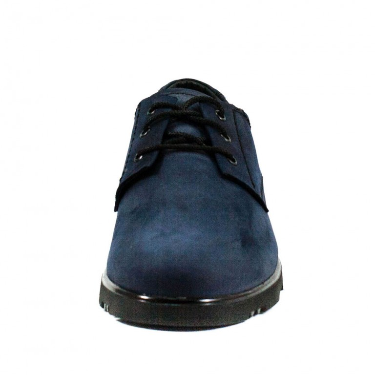 Туфли мужские MIDA 110762-4 синий нубук