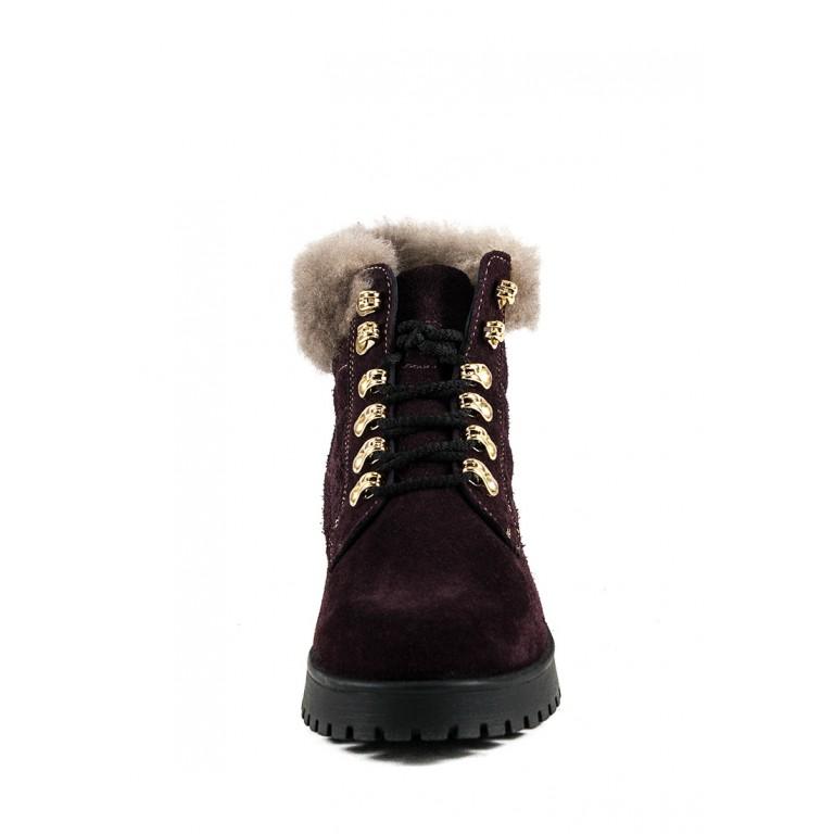 Ботинки зимние женские MIDA 24787-319Ш бордовые