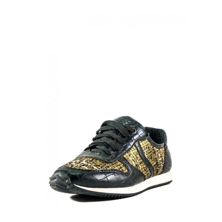 Кроссовки женские Sopra WH2007 черно-золотые