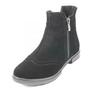 Ботинки демисезон женские SND SD129 черная замша