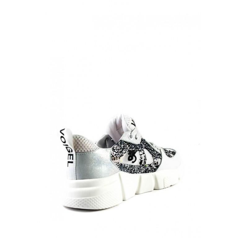 Кроссовки женскиеSND 12558-1004 бело-серебряный