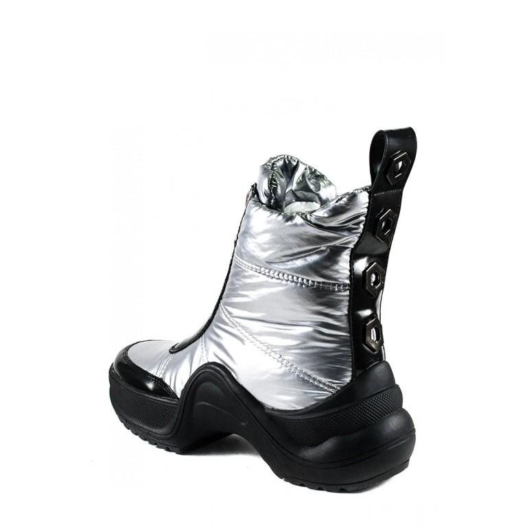 Ботинки зимние женские Prima D'arte 3350-F66-6 серебряные
