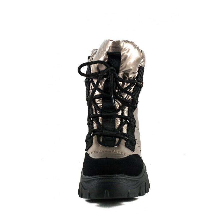 Ботинки зимние женские Prima D'arte 1616-F801-3 металлик
