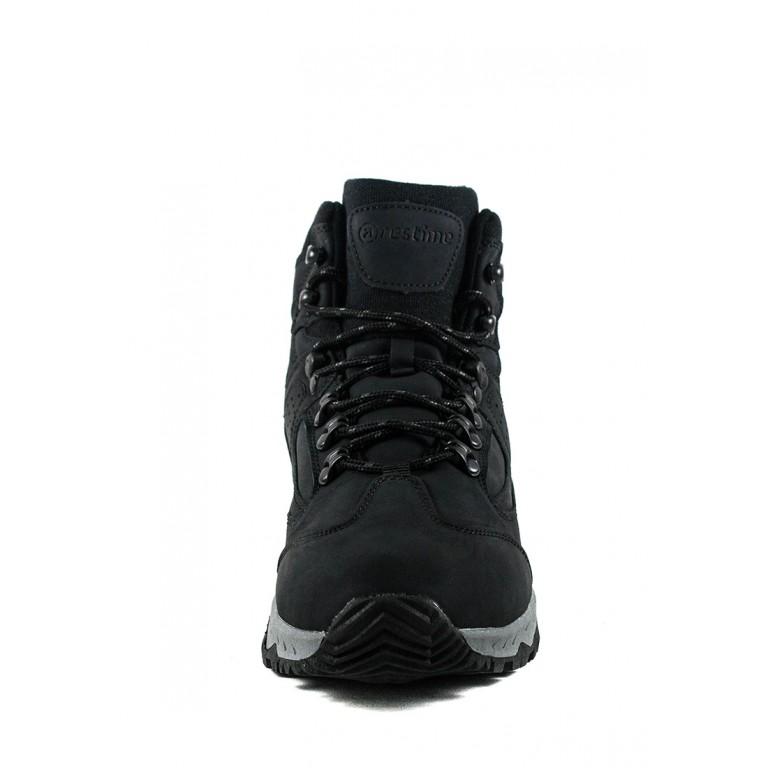 Ботинки зимние мужские Restime KMZ19606 черные