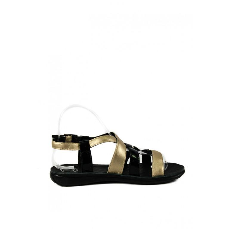 Сандалии женские TiBet 260-25-15-01 черно-золотые
