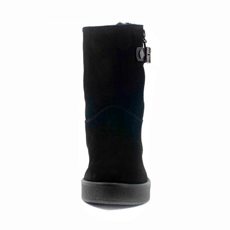 Сапоги зимние женские MIDA 24658-17Ш черный нубук