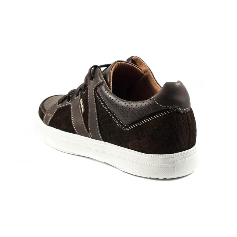 Кеды мужские Clubshoes 18-25 коричневая кожа