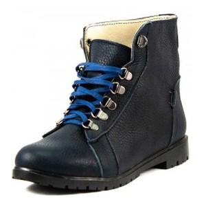 Ботинки демисезон женские No Brand FGB-999-6 синяя кожа