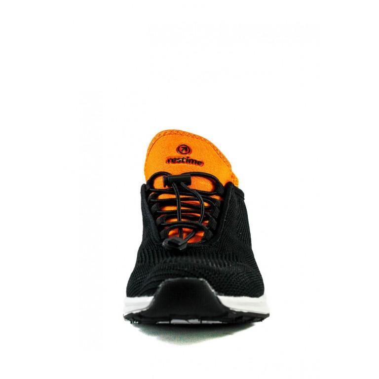 Кроссовки летние мужские Restime PML20754 черно-оранжевые