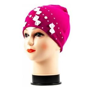 Бант-мини шапка розовая