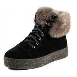 Ботинки зимние женские MIDA 24854-249Ш  черные