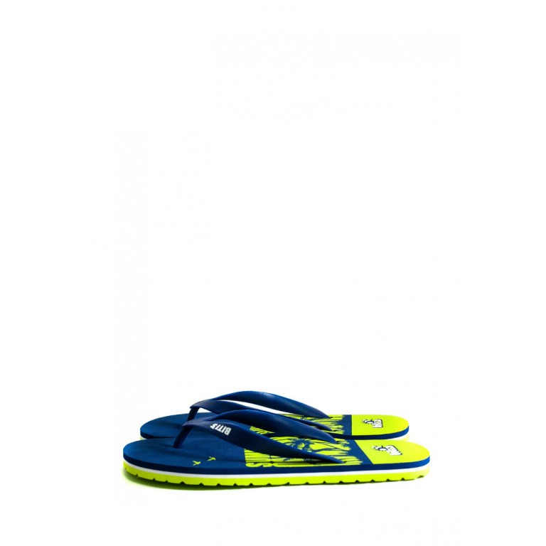 Шлепанцы подростковые Bitis 9961-А сине-салатовые