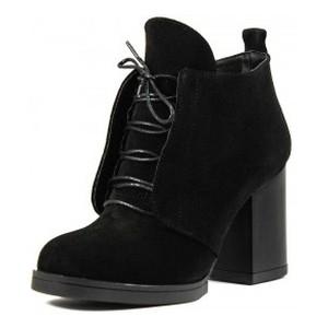 Ботинки демисезон женские CRISMA CR2021 черная замша