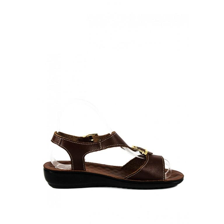 Сандалии женские TiBet 492-03-04 коричневые