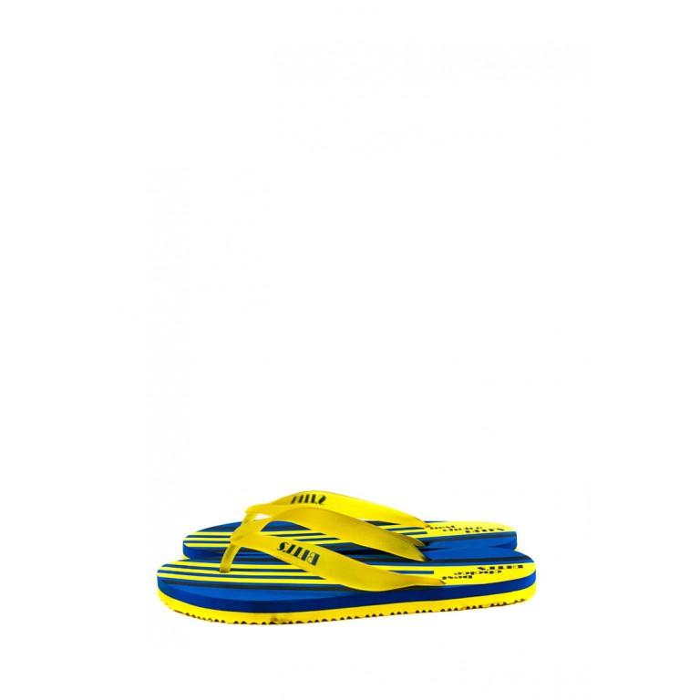 Шлепанцы подростковые 6161-Е желто-синий
