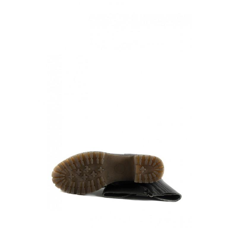 Сапоги зимние женские SND SDZ7435 темно-коричневая кожа