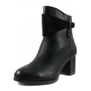 Ботинки демисезон женские Foletti FL720 черная кожа