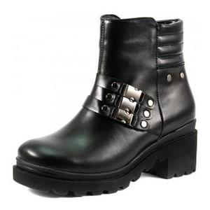 Ботинки демисезон женские SND SDAZ-3233 черная кожа