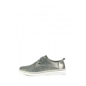 Мокасины женские Allshoes СФ 206-755XM-08 темно-серебряные