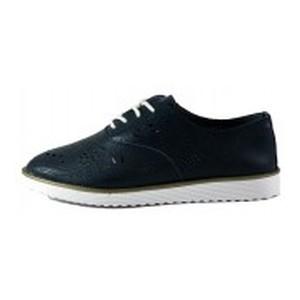 Мокасины женские Allshoes 18B017 темно-синий