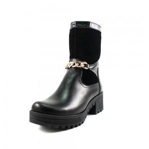 Ботинки зимние женские ZARUI ZAR6020 черная кожа+замша