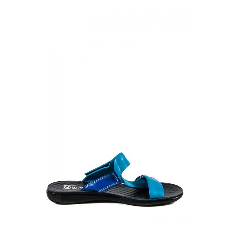 Шлепанцы женские TiBet 241-01-12 сине-голубые